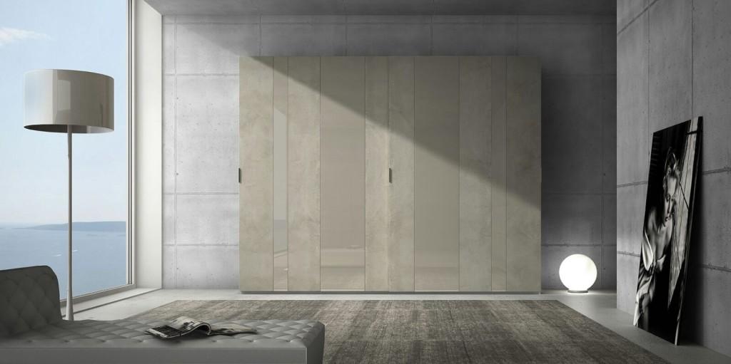 Armadio in vetro cemento voltan mobili magazine for Voltan mobili