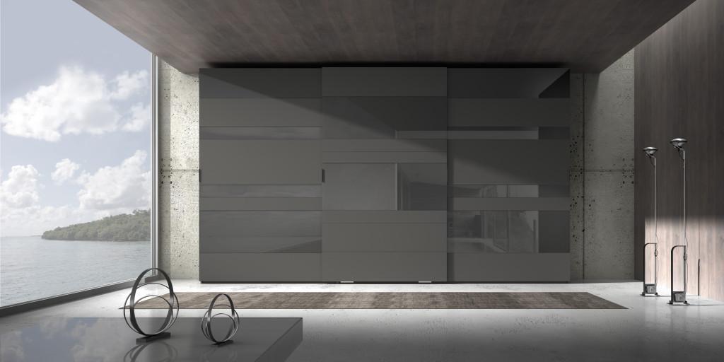 Armadio moderno di design in vetro
