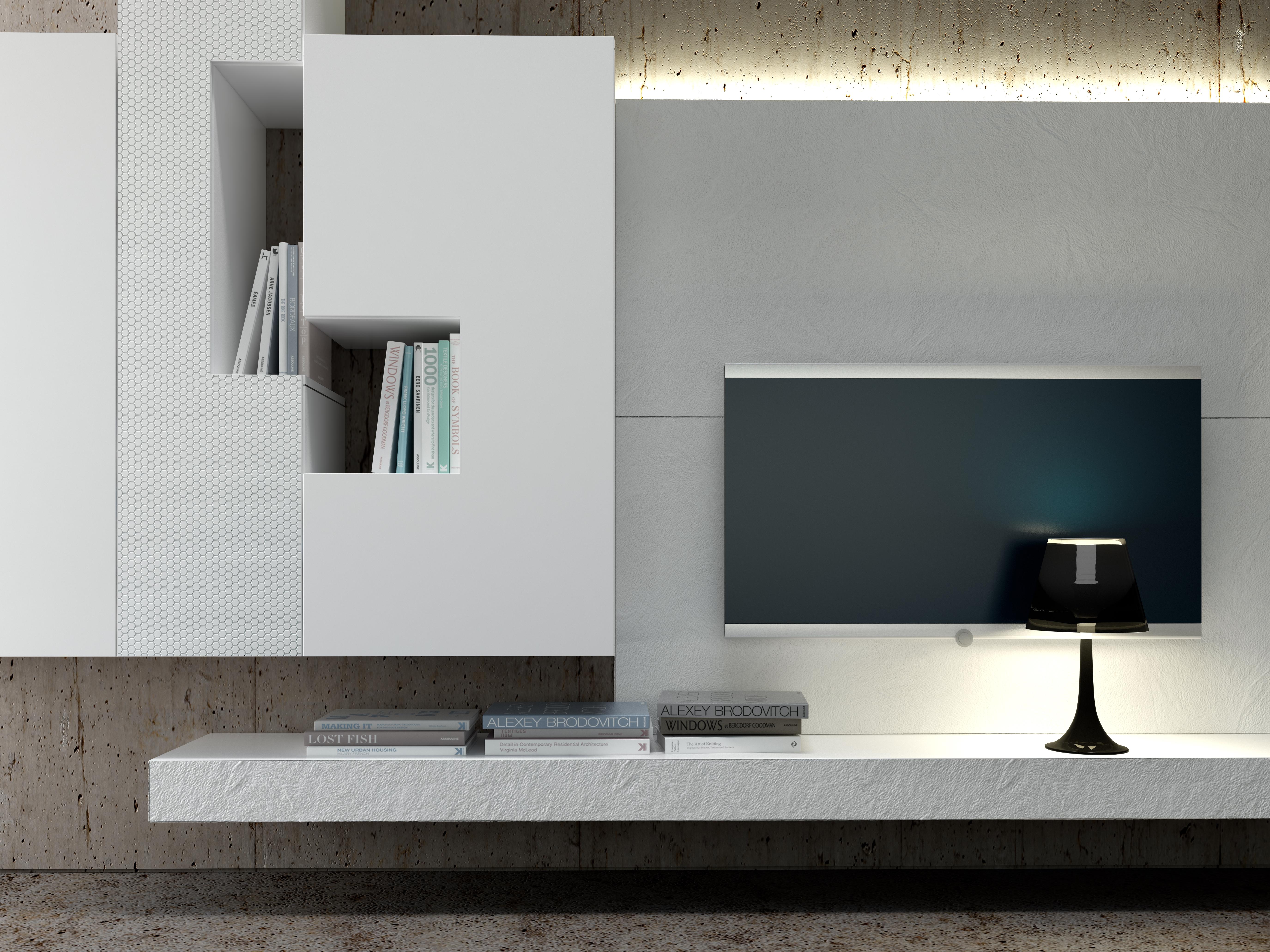 Parete attrezzata soggiorno moderna - Mobili moderni contemporanei e ...