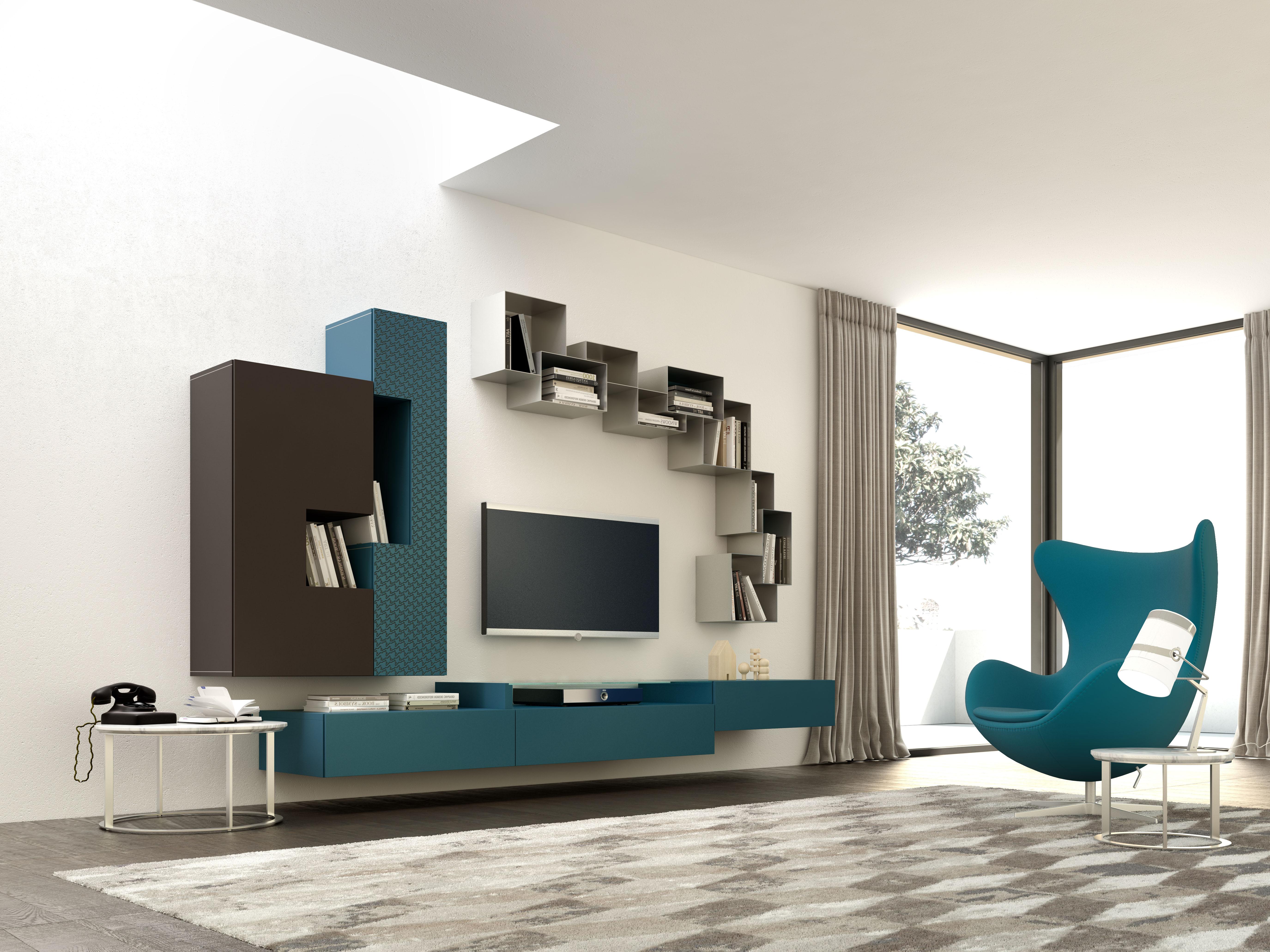 Parete attrezzata soggiorno moderna