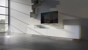 credenza porta tv moderna bianca