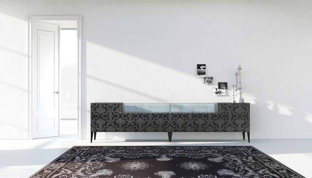 Credenza Con Vetri Colorati : Da team l innovativo legno abraso con vetro personalizzabile