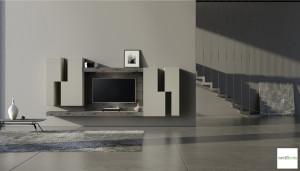mobile parete attrezzata soggiorno design