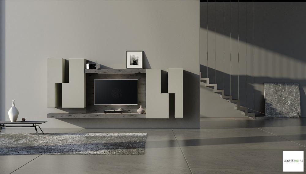Mobili particolari soggiorno for Mobile parete sala