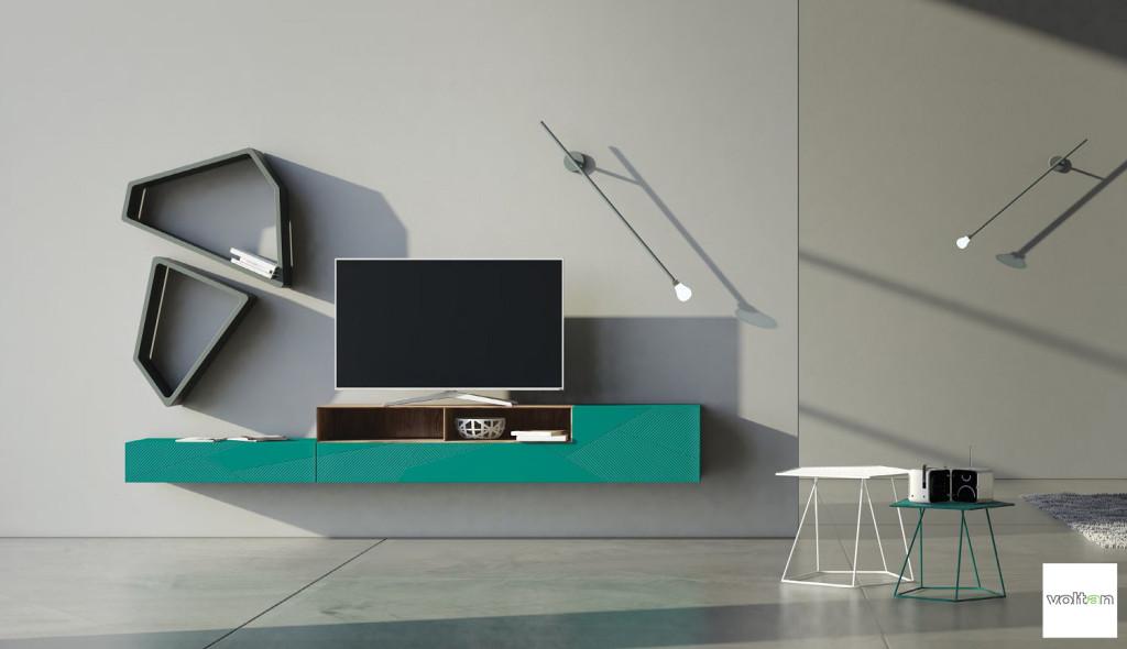 mobile porta tv moderno design particolare