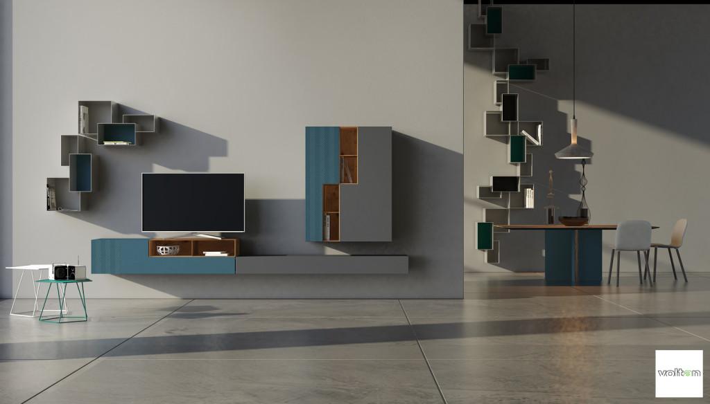 mobili minimal per soggiorno moderno contemporaneo