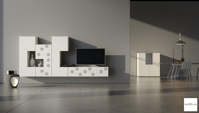 Mobili particolari soggiorno - Parete attrezzata design ...
