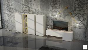 mobile bianco laccato per soggiorno