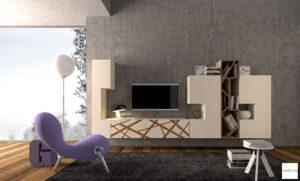 mobile moderno soggiorno bianco originale