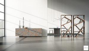 mobili finitura cemento