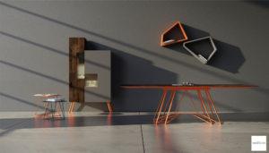 mobili moderni colorati per soggiorno