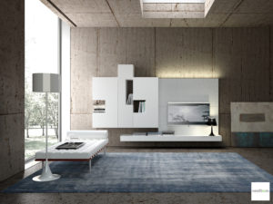 mobili soggiorno bianchi moderni
