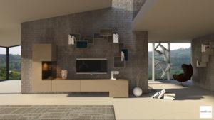 mobili soggiorno moderno beige