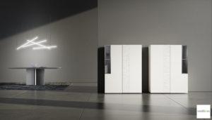 Credenza Con Alzata Moderna : Credenza moderna con vetrina elegant stunning