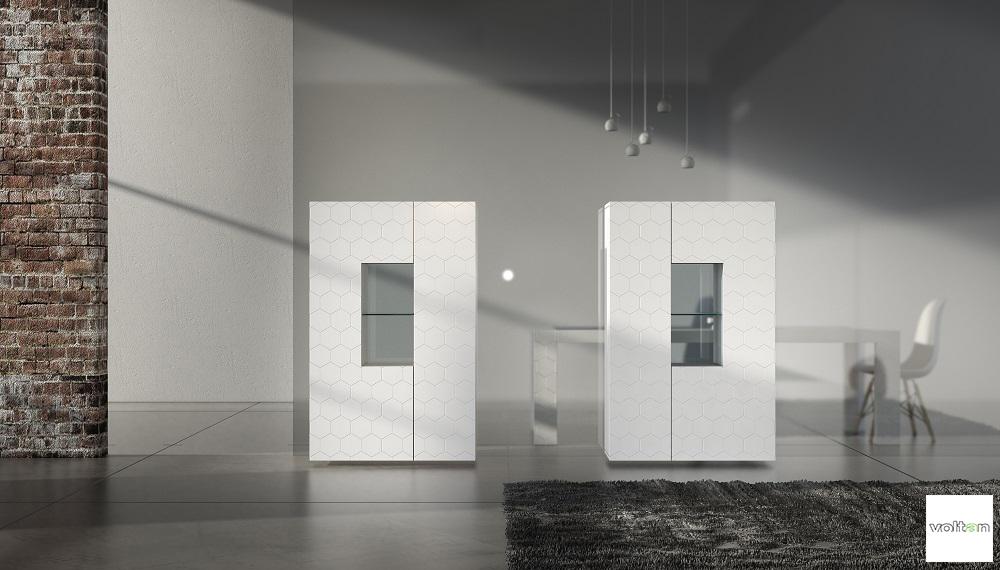 Credenza Moderna Laccata Nera : Credenza moderna con vetrina madie alte moderne
