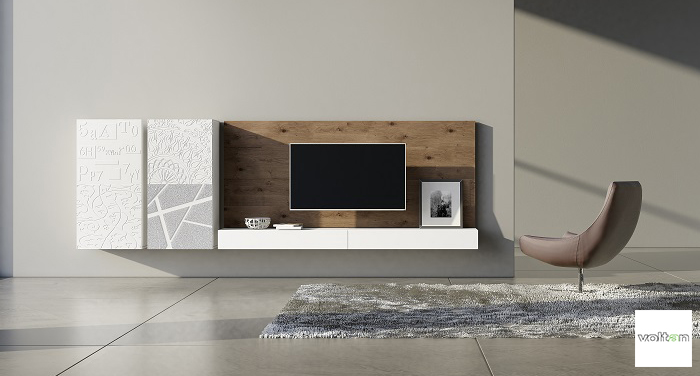 Credenza Moderna Design : Credenza moderna madia di design ante bianco lucido e