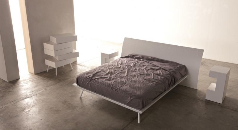 Camere da letto minimal chic.