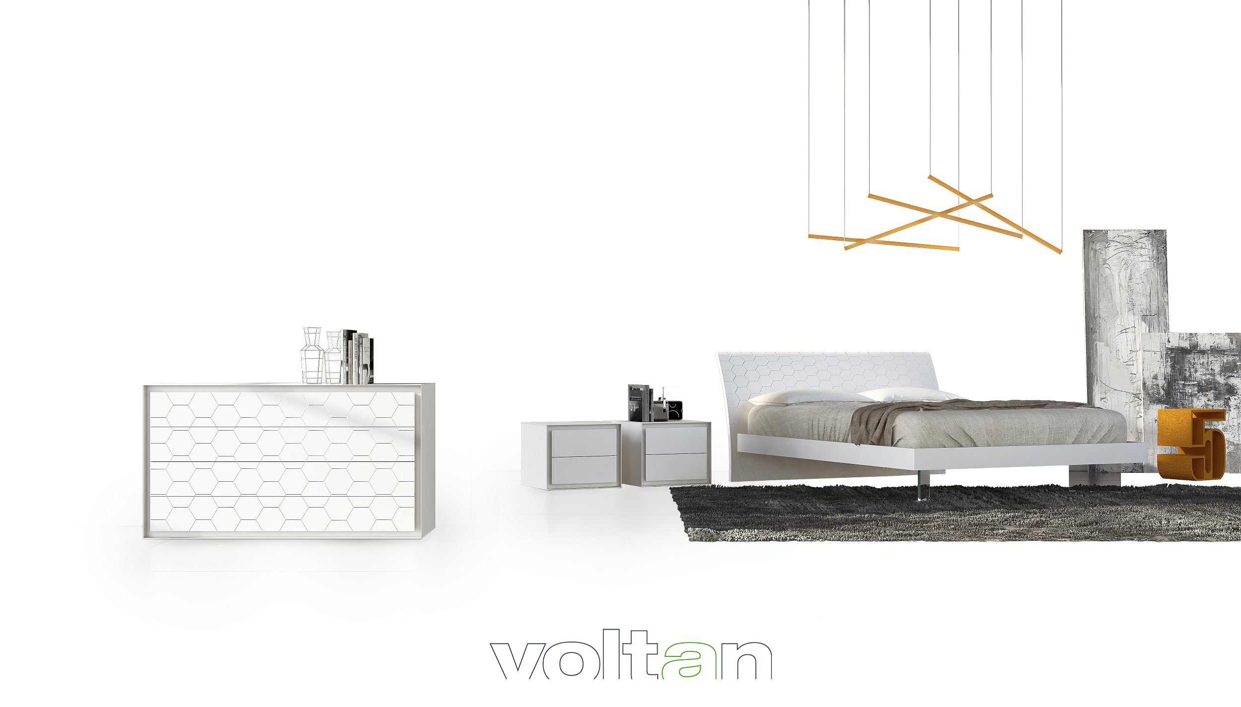 Stanze Da Letto Moderne Bianche : Camere da letto moderne contemporanee comò armadi contemporanei