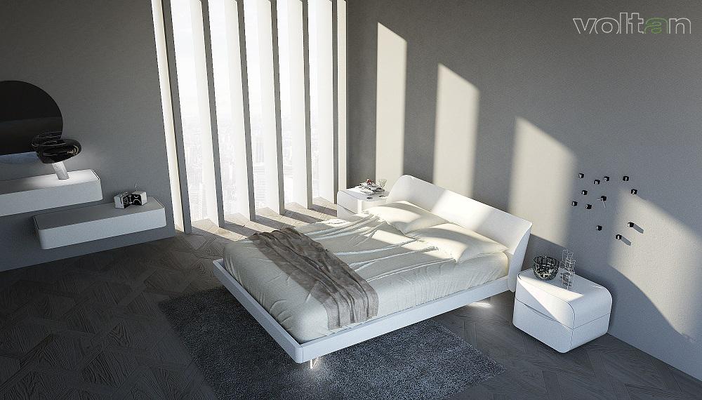 Arredamento essenziale camera da letto mobili minimal - Camera da letto minimal ...