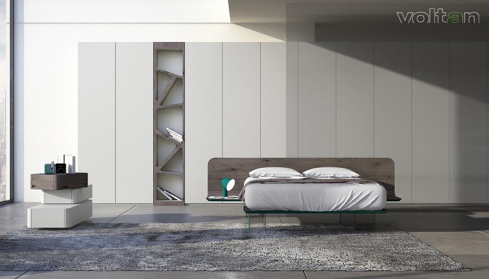 camera da letto elegante e moderna