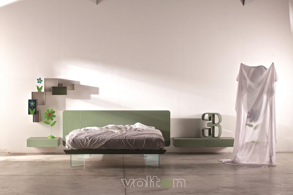 camera da letto moderna colorata