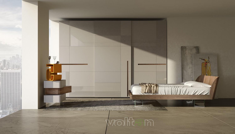 Camere da letto moderne colorate