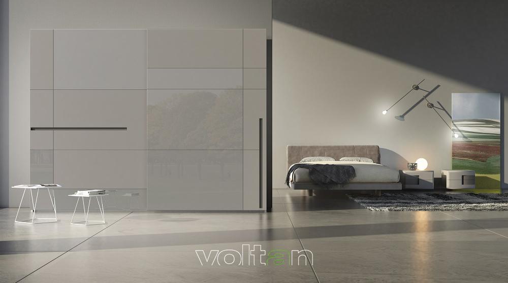 camere da letto moderne grigie