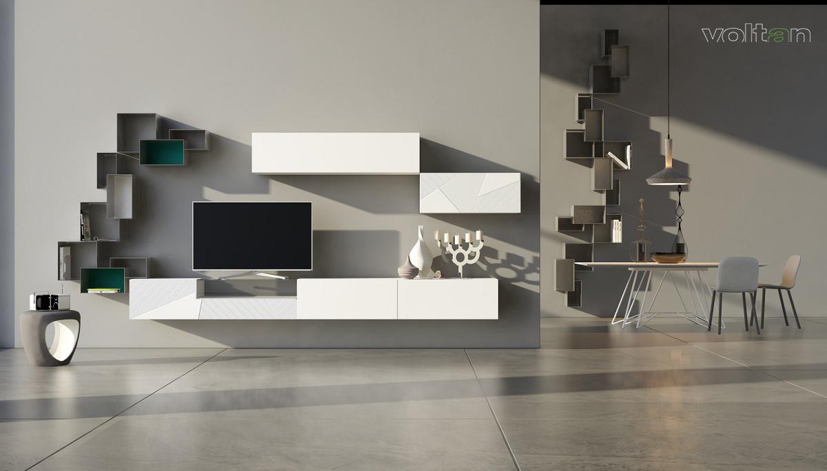 parete attrezzata modulare moderna