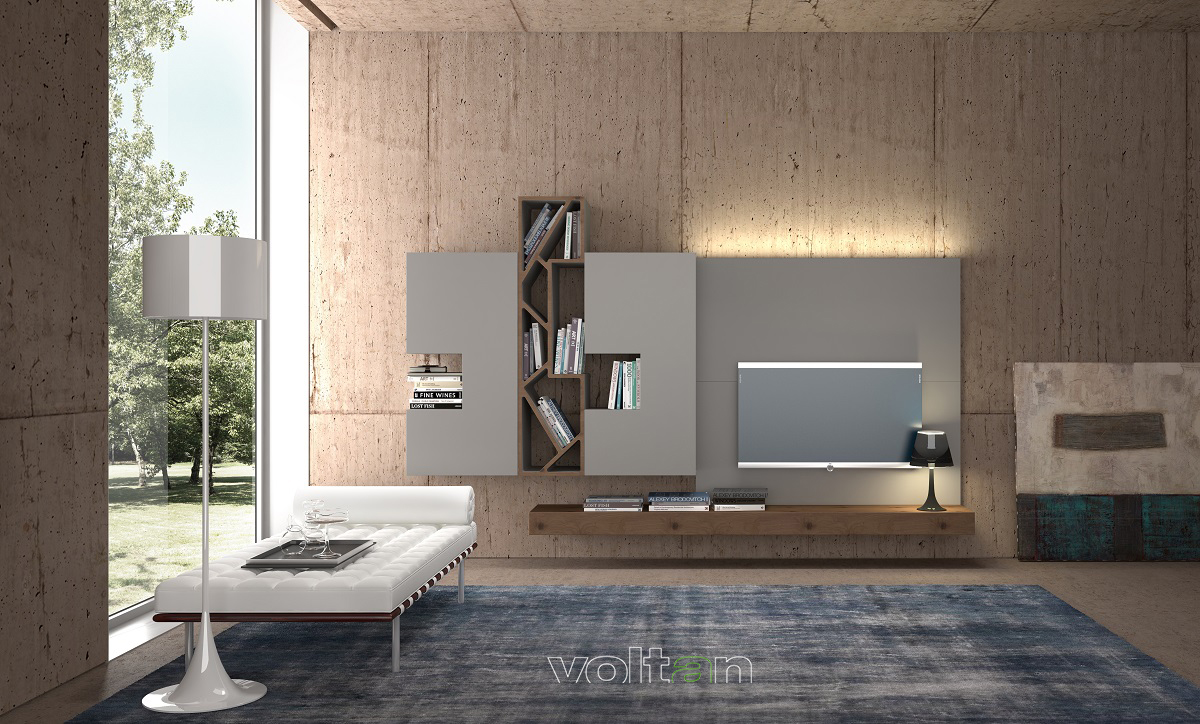 pareti attrezzate componibili moderne