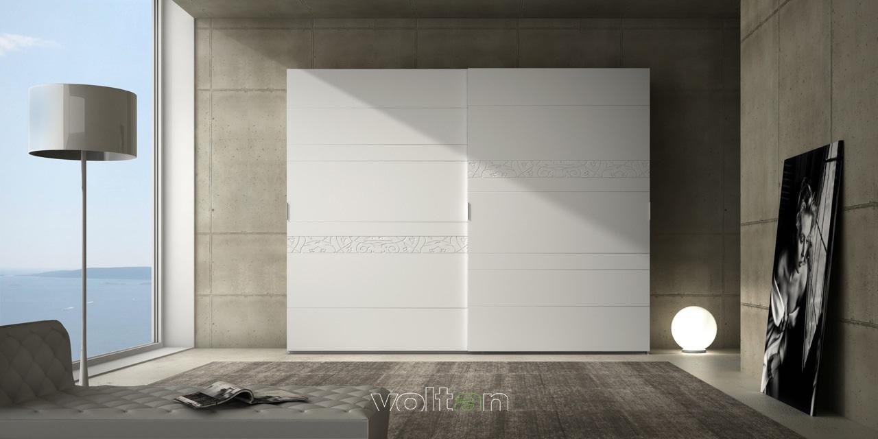 armadi moderni bianchi ante scorrevoli
