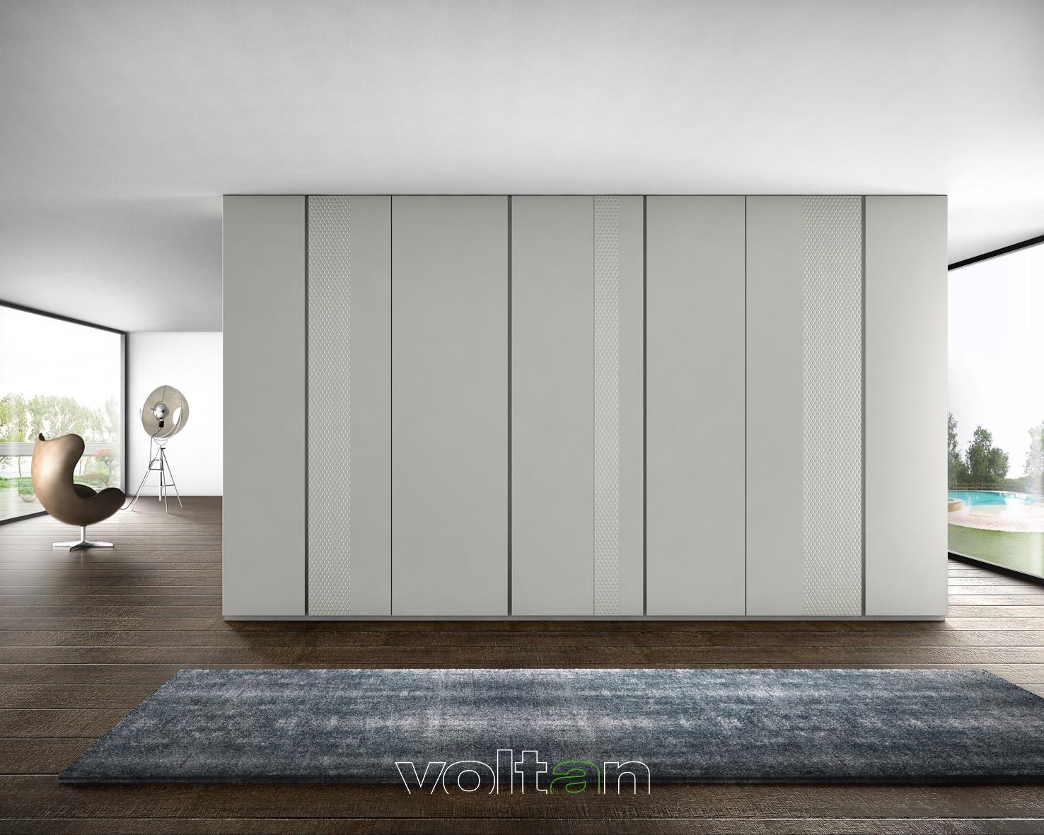 armadio laccato opaco bianco