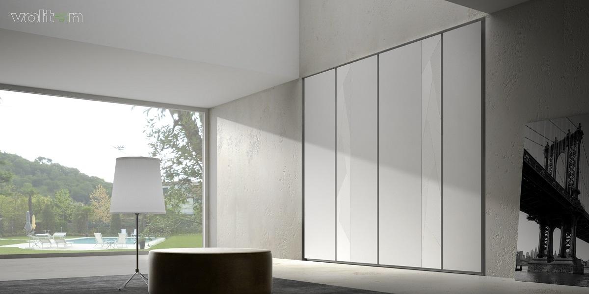 armadio moderno bianco battente