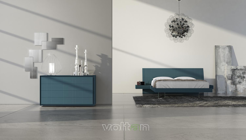 camera da letto moderna blu