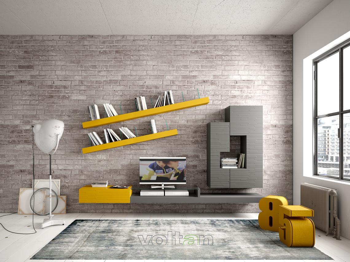 pareti attrezzate colorate