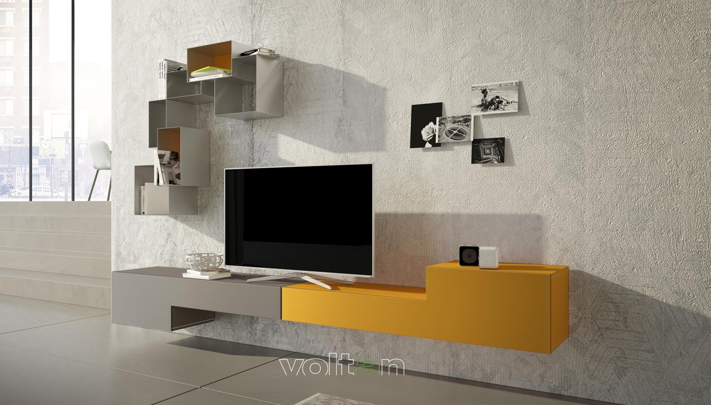 pareti attrezzate di design colorate