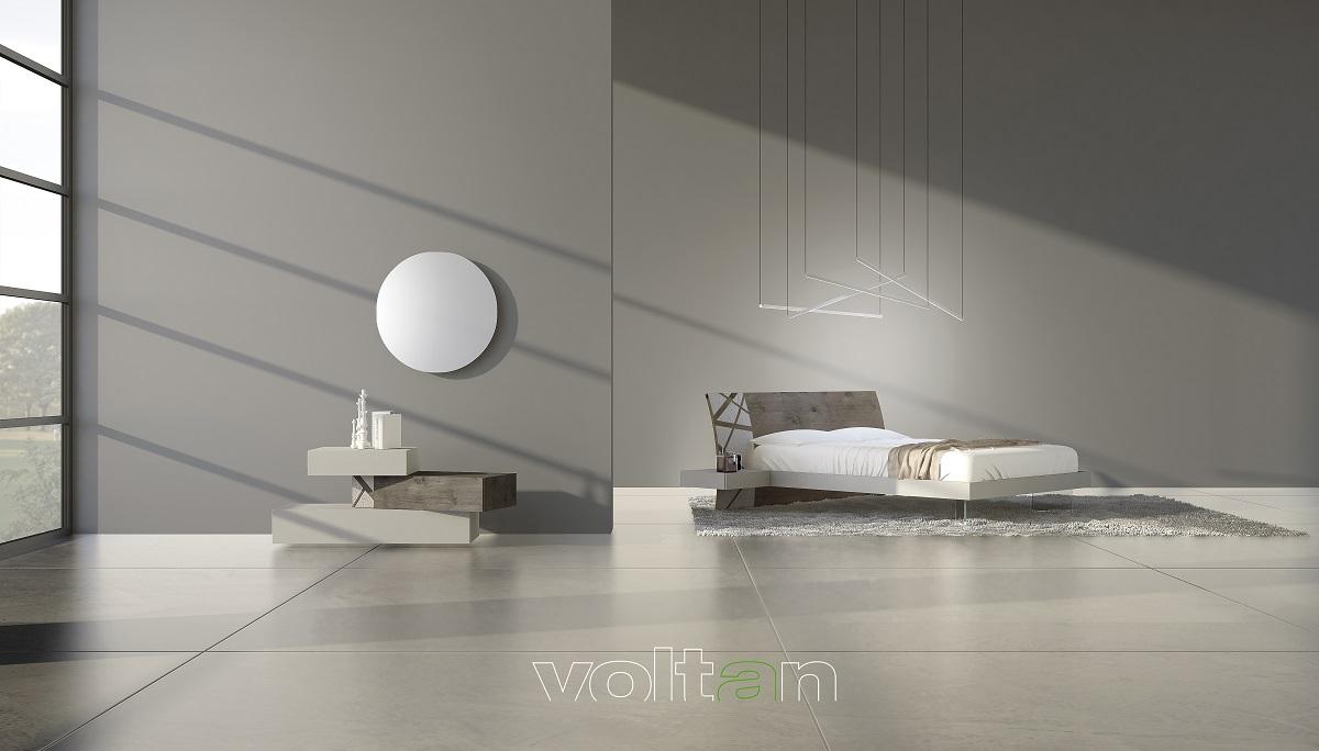 Camera da letto moderna grigia