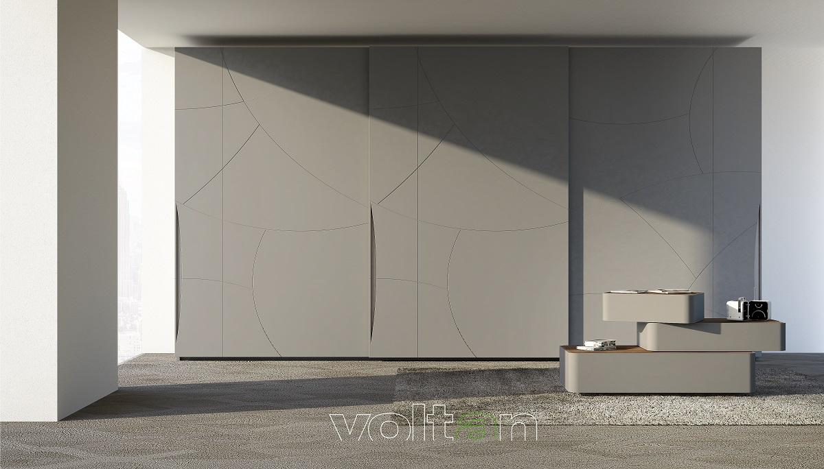 armadio grigio camera da letto