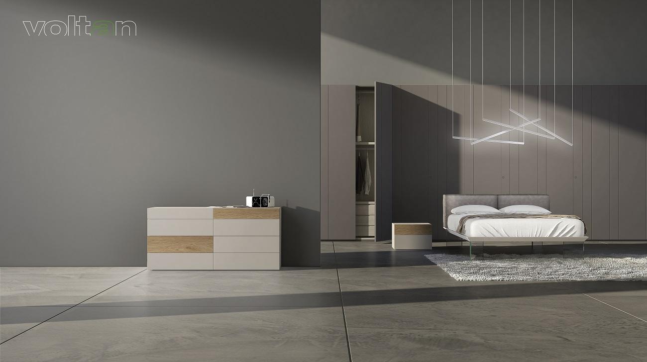camera da letto grigio antracite