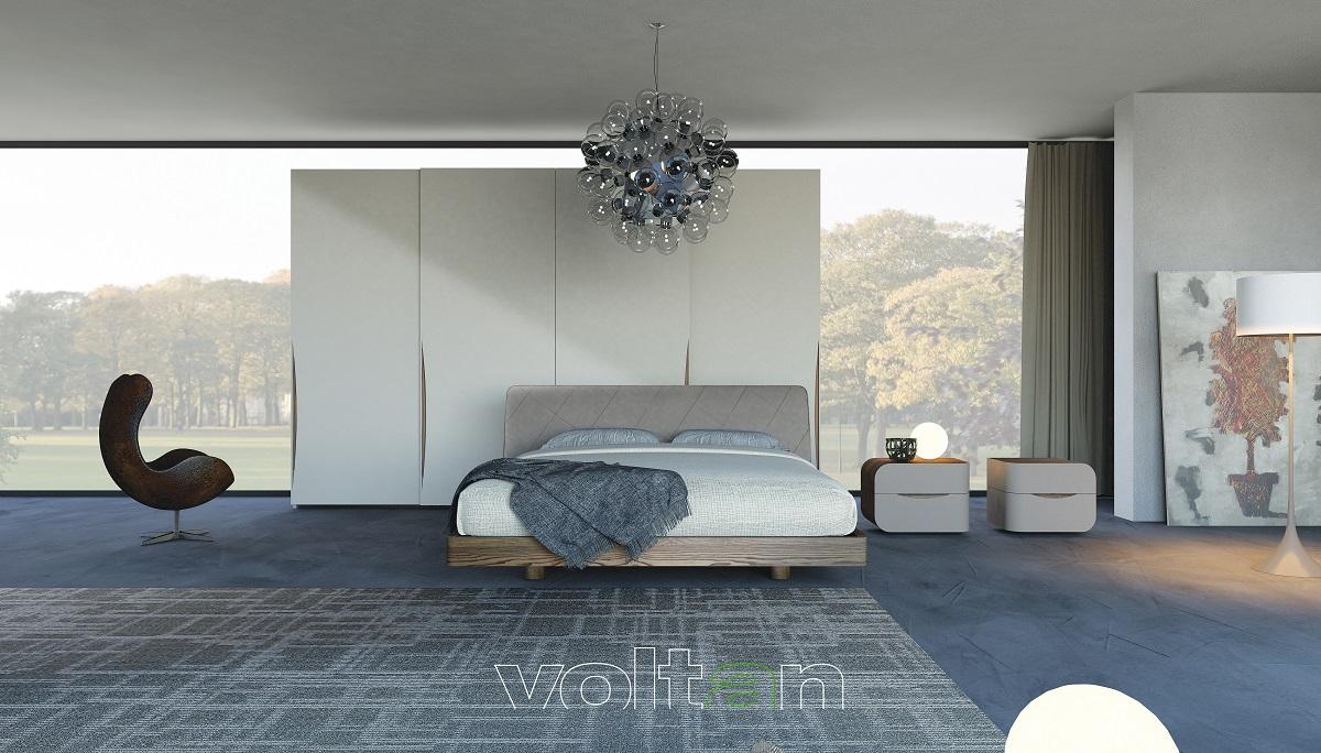 camera-da-letto-moderna grigia