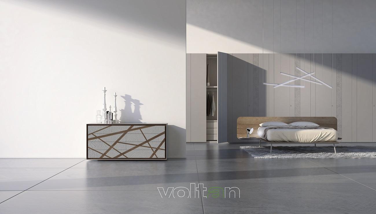 camera letto moderna grigio chiaro