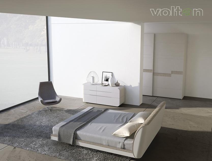 camera da letto moderna bianca e tortora
