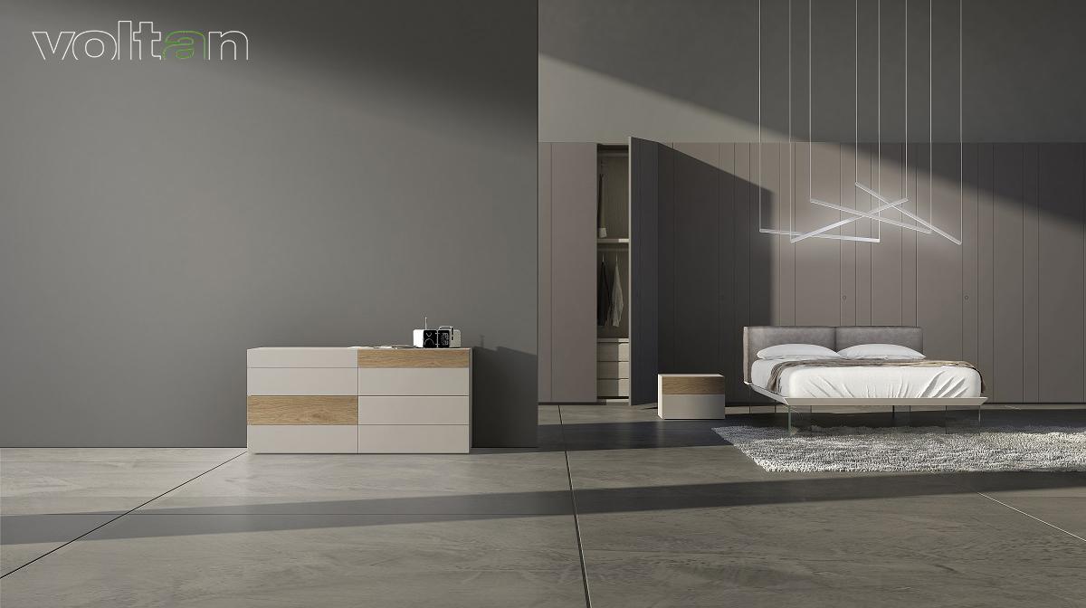 Camera Da Letto Grigia camere da letto moderne bianche e grigie