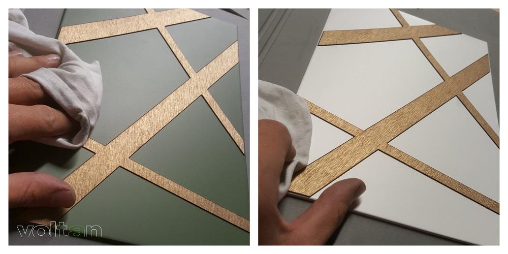 lavorazione bronzo graffiato