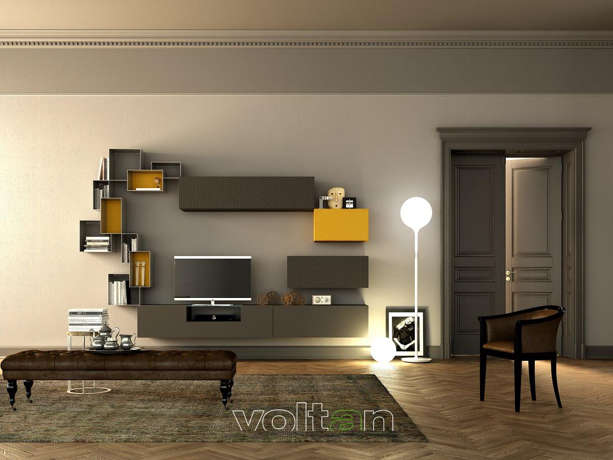 parete libreria tv