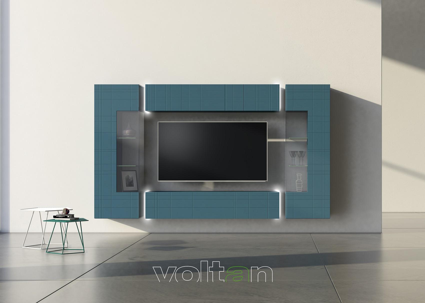 mobile tv sospeso legno