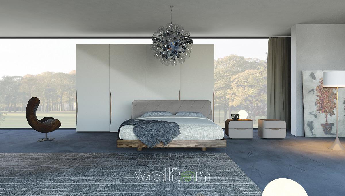 Camera da letto moderna legno