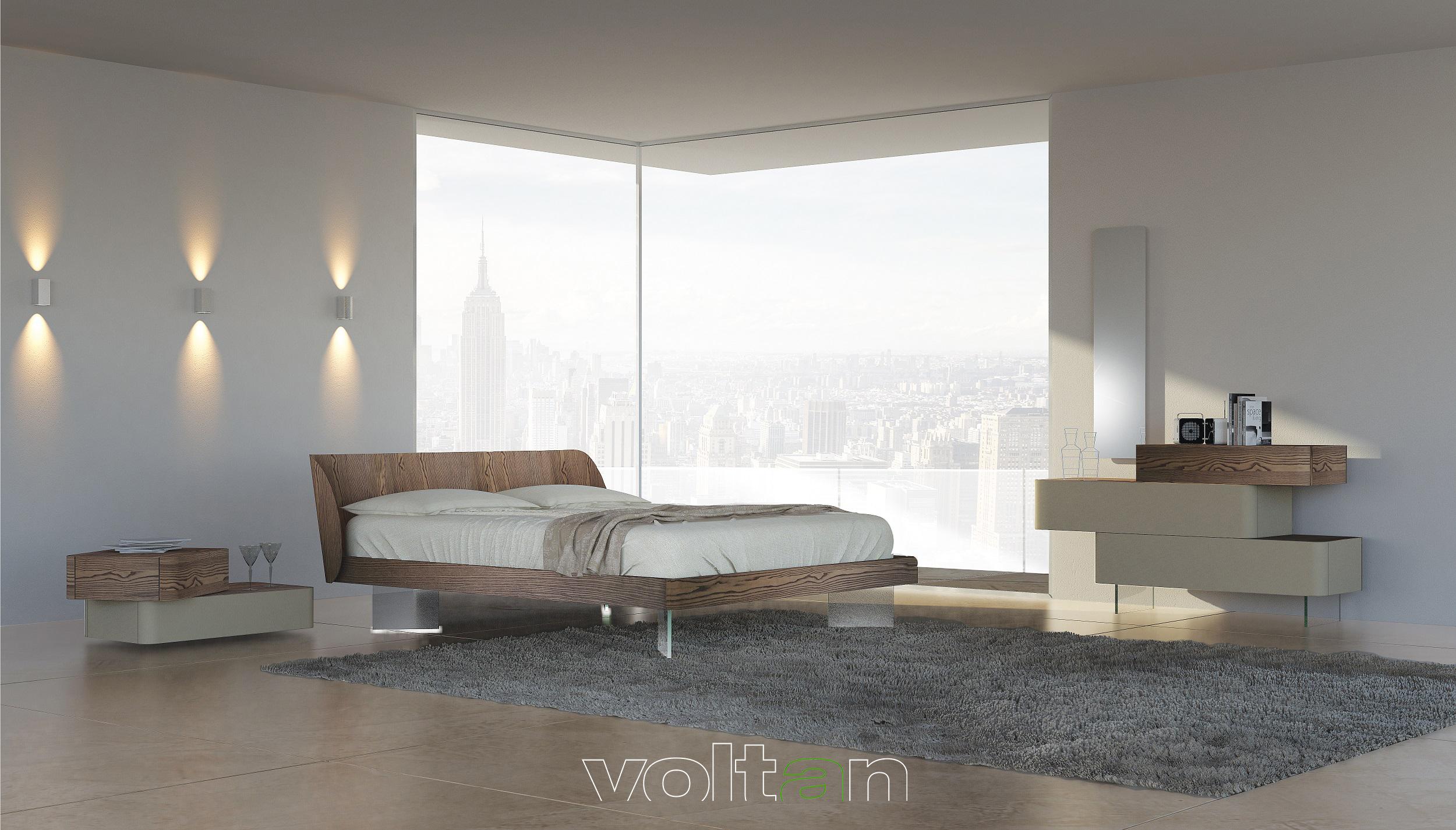 Camere da letto legno moderne