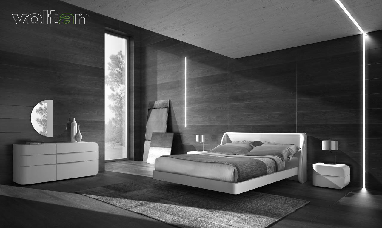 camere da letto chic moderno