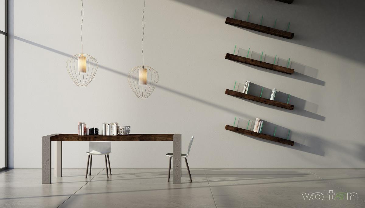 mensole di design in legno