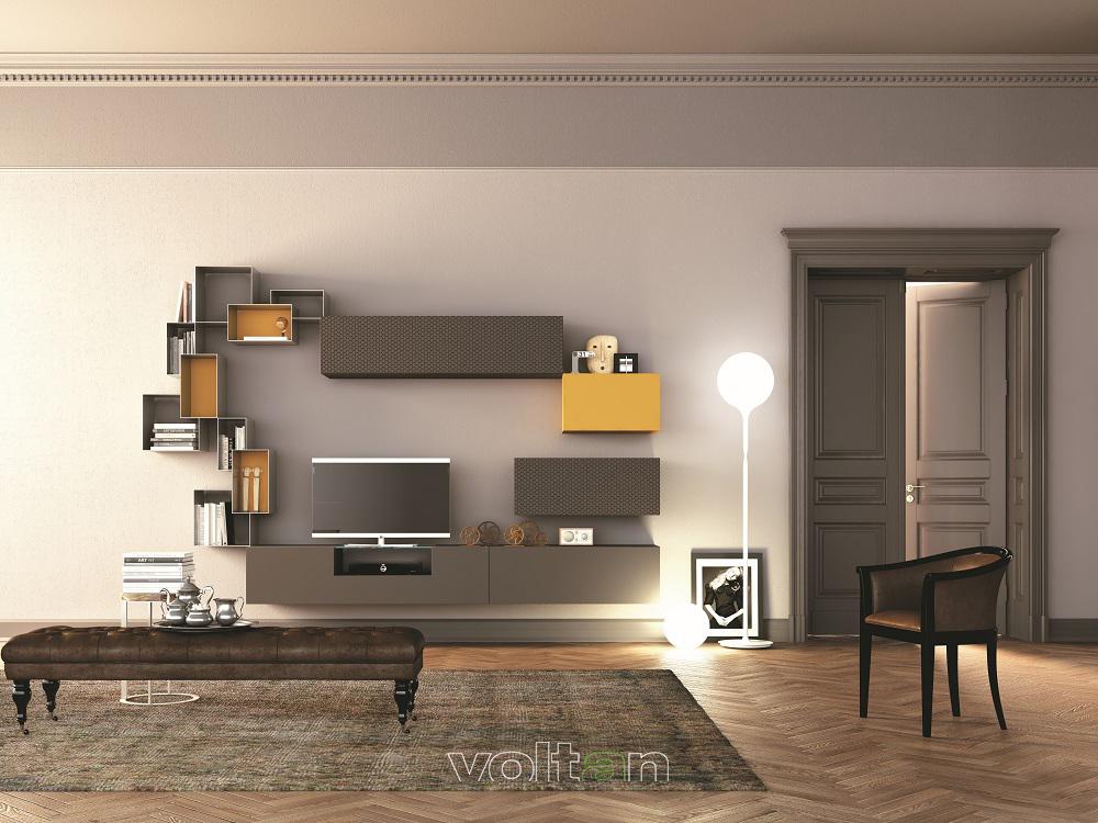 mensole moderne per soggiorno